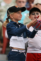 August 25th, 2007:  A young fan asks for an autograph during the Buffalo Bisons Hall of Fame induction ceremony at Dunn Tire Park in Buffalo, NY.  Photo by Mike Janes/Four Seam Images
