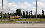 Capolinea del tram n.24 in fondo a via Ripamonti quartiere Vigentino