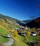 Oesterreich, Salzburger Land, Herbststimmung im Glemmtal: Saalbach-Hinterglemm   Austria, Salzburger Land, autumn at Glemm-Valley: Saalbach-Hinterglemm