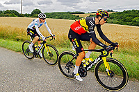 14th July 2021, Muret, France;  VINGEGAARD Jonas (DEN) of JUMBO-VISMA and VAN AERT Wout (BEL) of JUMBO-VISMA during stage 17 of the 108th edition of the 2021 Tour de France cycling race, a stage of 178,4 kms between Muret and Saint-Lary-Soulan.