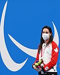 Aurelie Rivard, Tokyo 2020 - Para Swimming // Paranatation.<br /> Aurelie Rivard wins bronze in the women's 50m S10 freestyle // Aurelie Rivard gagne le bronze au 50 m libre S10 féminin. 08/25/2021.