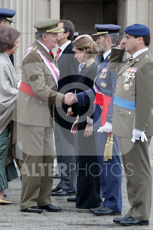 Military Christmas at Madrid Royal Palace. King Juan Carlos...Photo: MAC / ALFAQUI