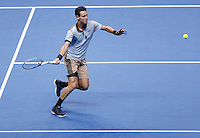 Tomas Berdych of Czech Republic in action at the ATP World Tour Finals, The O2, London, 2015