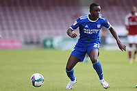 5th September 2020; PTS Academy Stadium, Northampton, East Midlands, England; English Football League Cup, Carabao Cup, Northampton Town versus Cardiff City; Jordi Osei-Tutu of Cardiff City looks for an outlet