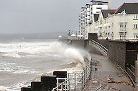 swansea..news.wednesday 5th february 2014...<br /> <br /> Swansea bay during high tide, near Swansea Marina.