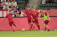 Carson, CA - Sunday January 28, 2018: Paul Arriola, Rubio Rubin, Russell Canouse, Kelyn Rowe, USMNT during an international friendly between the men's national teams of the United States (USA) and Bosnia and Herzegovina (BIH) at the StubHub Center.