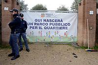 Roma, 26 Novembre 2018<br /> L'esercito italiano  ha iniziato la demolizione di una villa confiscata dalla Regione Lazio ai membri del clan criminale mafioso dei Casamonica in Via Rocca Bernarda nella periferia sud est di Roma dove sorgerà un parco Pubblico e una biblioteca