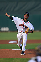 Jupiter Hammerheads pitcher Eury Perez (30) during a game against the Palm Beach Cardinals on May 11, 2021 at Roger Dean Chevrolet Stadium in Jupiter, Florida.  (Mike Janes/Four Seam Images)