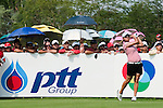 CHON BURI, THAILAND - FEBRUARY 20:  Yani Tseng of Taiwan tees off on the 11th hole during day four of the LPGA Thailand at Siam Country Club on February 20, 2011 in Chon Buri, Thailand.  Photo by Victor Fraile / The Power of Sport Images