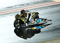 Jul 20, 2019; Morrison, CO, USA; NHRA pro stock motorcycle rider Cory Reed during qualifying for the Mile High Nationals at Bandimere Speedway. Mandatory Credit: Mark J. Rebilas-USA TODAY Sports
