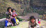 Kids in a Peruvian Village, Cordillera Blanca