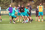 25.09.2020, Trainingsgelaende am wohninvest WESERSTADION - Platz 12, Bremen, GER, 1.FBL, Werder Bremen Training<br /> <br /> Davy Klaassen (Werder Bremen #30)<br /> Johannes Eggestein (Werder Bremen #24)<br /> Ludwig Augustinsson (Werder Bremen #05)<br /> Nick Woltemade (werder Bremen #41)<br /> Felix Agu (Werder Bremen / Neuzugang 17)<br /> Tim Borowski (Co-Trainer SV Werder Bremen)<br /> Davie Selke  (SV Werder Bremen #09)<br /> Querformat<br /> <br /> <br /> Foto © nordphoto / Kokenge *** Local Caption ***