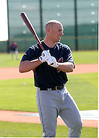 Chris Gimenez  -  Cleveland Indians - 2009 spring training.Photo by:  Bill Mitchell/Four Seam Images