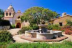 California Mission Courtyard Photo