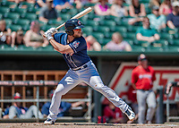 31 May 2018: New Hampshire Fisher Cats infielder Gunnar Heidt in action against the Portland Sea Dogs at Northeast Delta Dental Stadium in Manchester, NH. The Sea Dogs defeated the Fisher Cats 12-9 in extra innings. Mandatory Credit: Ed Wolfstein Photo *** RAW (NEF) Image File Available ***