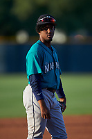 AZL Mariners third baseman Osiris Castillo (38) during an Arizona League game against the AZL D-backs on July 3, 2019 at Salt River Fields at Talking Stick in Scottsdale, Arizona. The AZL D-backs defeated the AZL Mariners 3-1. (Zachary Lucy/Four Seam Images)