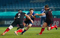 8th January 2021; RDS Arena, Dublin, Leinster, Ireland; Guinness Pro 14 Rugby, Leinster versus Ulster; Hugo Keenan of Leinster tries to get past Marcell Coetzee and Andrew Warwick of Ulster