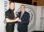 First Minister presents a 2011 Brave@Heart award to Police Constable Graeme Henderson from West Lothian