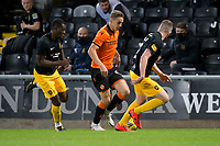 2nd October 2020; Tannadice Park, Dundee, Scotland; Scottish Premiership Football, Dundee United versus Livingston; Louis Appere of Dundee United takes on Marvin Bartley and Nicky Devlin of Livingston