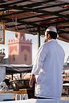 Imbissverkäufer, Platz Jeema El Fna (Platz der Gehenkten), Marrakesch, Marokko