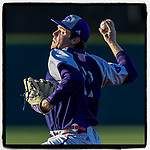 Starting pitcher Grey Lyttle (27) of the High Point Panthers struck out seven in 5.2 innings to earn a 4-2 win over the USC Upstate Spartans on Friday, March 22, 2019, at Cleveland S. Harley Park in Spartanburg, South Carolina. (Tom Priddy/Four Seam Images)