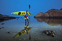 Portrait of Ulrika Larsson, sea kayaker, Swedish West Coast