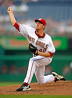12 July 2008: Washington Nationals' starting pitcher Collin Balester on the mound against the Houston Astros at Nationals Park in Washington, DC. The Astros defeated the Nationals 6-4 in the second game of their 3-game series...Mandatory Photo Credit: Ed Wolfstein Photo