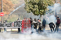 September 21 2017, PARIS FRANCE<br /> Demonstration against the Reform of<br /> Labour Law organized by the CGT Union<br /> whose leader is Philippe Martinez. Riots took place. Police intervened. # MANIFESTATION CONTRE LA LOI TRAVAIL EN FRANCE ANTI