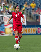 In an international friendly, Canada defeated Brasil, 2-1, at Gillette Stadium on March 24, 2012.