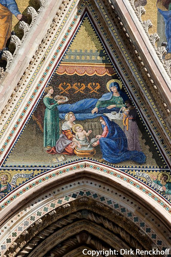 Italien, Umbrien, Dom von Orvieto, Detail