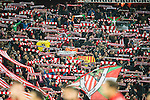 Fans of Athletic Club show their supports prior to the Copa del Rey Round of 16 first leg match between Athletic Club and FC Barcelona at San Mames Stadium on 05 January 2017 in Bilbao, Spain. Photo by Victor Fraile / Power Sport Images