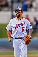7 March 2019: Washington Nationals third baseman Anthony Rendon in action during a Spring Training Game against the New York Mets at the Ballpark of the Palm Beaches in West Palm Beach, Florida. The Nationals defeated the visiting Mets 6-4 in Grapefruit League, pre-season play. Mandatory Credit: Ed Wolfstein Photo *** RAW (NEF) Image File Available ***