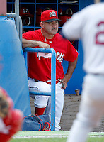 July 28, 2009:  Manager Mark DeJohn of the Batavia Muckdogs during a game at Dwyer Stadium in Batavia, NY.  The Muckdogs are the NY-Penn League Short-Season Class-A affiliate of the St. Louis Cardinals.  Photo By Mike Janes/Four Seam Images