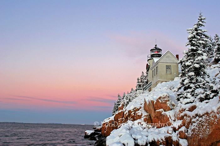 Early Winter Morning, Bass Harbor Light  #LH45