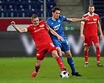 02.11.2020, PreZero-Arena, Sinsheim, GER, 1.FBL, TSG 1899 Hoffenheim vs 1.FC Union Berlin , <br /> DFL  regulations prohibit any use of photographs as image sequences and/or quasi-video.<br /> im Bild<br /> Julian Ryerson (Union Berlin), Robert Skov (Hoffenheim)<br /> <br /> Foto © PIX-Sportfotos *** Foto ist honorarpflichtig! *** Auf Anfrage in hoeherer Qualitaet/Aufloesung. Belegexemplar erbeten. Veroeffentlichung ausschliesslich fuer journalistisch-publizistische Zwecke. For editorial use only. DFL regulations prohibit any use of photographs as image sequences and/or quasi-video.