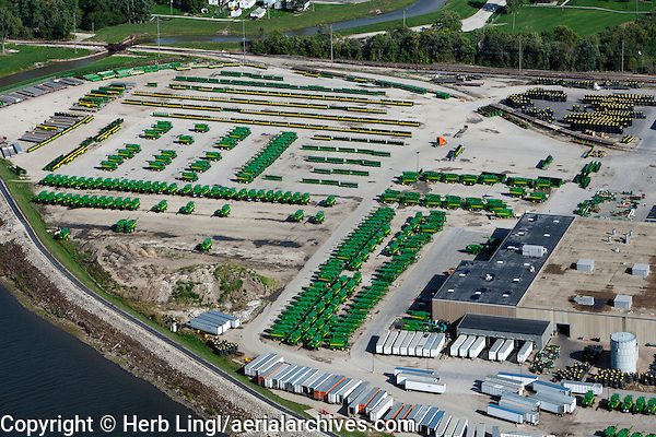 aerial photograph of the John Deere Harvester Works factory, East Moline, Illinois