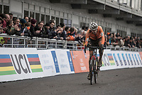 Joris Nieuwenhuis (NED/sunweb) finishing 2nd. <br /> <br /> Men U23 Race<br /> UCI CX Worlds 2018<br /> Valkenburg - The Netherlands