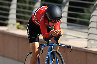 9th September 2021; Trento, Trentino–Alto Adige, Italy: 2021 UEC Road European Cycling Championships, Womens Individual time trials:  AALERUD Katrine (NOR)