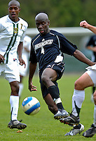 31 October 2007: The University of Binghamton Bearcats' Jean-Philippe Ahoua, a Senior from New York City, NY, in action against the University of Vermont Catamounts at Historic Centennial Field in Burlington, Vermont. The Catamounts shut out the visiting Bearcats 2-0...Mandatory Photo Credit: Ed Wolfstein Photo