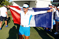 6th September 2021: Toledo, Ohio, USA;  Celine Boutier of Team Europe celebrates winning the Solheim Cup on September 6, 2021 at Inverness Club in Toledo, Ohio.