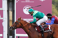 4th October 2020, Longchamp Racecourse, Paris, France; Qatar Prix de l Arc de Triomphe;  Sottsass ridden by Cristian Demuro