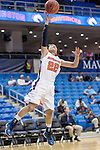 Texas Arlington Mavericks guard Laila Suleiman (22) in action during the game between the Texas Pan American Lady Broncs  and the Texas Arlington Mavericks at the College Park Center arena in Arlington, Texas. UTPA defeats UTA 59 to 57....