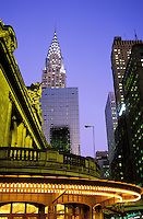 USA, New York, New York City. Grand Central Station and the Chrysler Building