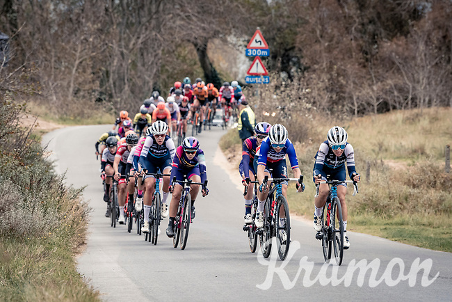 Audrey Cordon-Ragot (FRA/Trek-Segafredo) & Trixi Worrack (DEU/Trek-Segafredo) piloting the peloton through the dunes<br /> <br /> AG Driedaagse Brugge-De Panne 2020 (1.WWT)<br /> 1 day race from Brugge to De Panne (156km) <br /> <br /> ©kramon