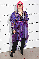 Zandra Rhodes<br /> at the Vogue 100: A Century of Style exhibition opening held in the National Portrait Gallery, London.<br /> <br /> <br /> ©Ash Knotek  D3080 09/02/2016