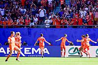 Celebration des joueuses des Pays Bas apres le but de Vivianne Miedema (Pays Bas) <br /> Valenciennes 29-06-2019 <br /> Football Womens World Cup <br /> Italia - Olanda <br /> Photo JB Autissier/ Panoramic/Insidefoto <br /> ITALY ONLY