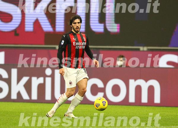 Milano 03-03-2021<br /> Stadio Giuseppe Meazza<br /> Serie A  Tim 2020/21<br /> Milan - Udinese<br /> nella foto: Sandro Tonali                                                         <br /> Antonio Saia