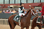 April 12, 2014: #1 Danza with jockey Joe Bravo celebrating after winning the Arkansas Derby at Oaklawn Park in Hot Springs, AR. Justin Manning/ESW/CSM