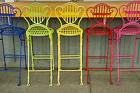 Colorful chairs. Joseph, Oregon