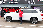 Real Madrid player Jose Callejon participates and receives new Audi during the presentation of Real Madrid's new cars made by Audi at the Jarama racetrack on November 8, 2012 in Madrid, Spain.(ALTERPHOTOS/Harry S. Stamper)